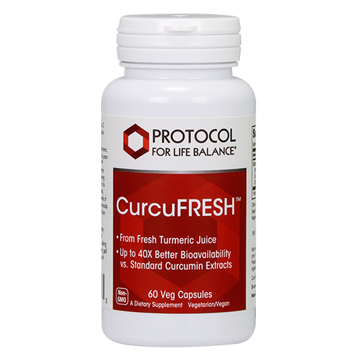 Curcufresh Curcumin from Turmeric 500mg 60caps Protocol for Life Balance