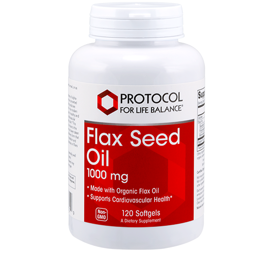 Flaxseed Oil 1000mg 120gel Protocol for Life Balance