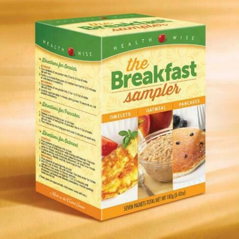 Breakfast Variety Healthwise Diet Plan Box of 7 (compare to Ideal Protein)