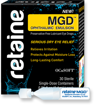 MGD Lubricant Eye Drops Retaine Ocusoft