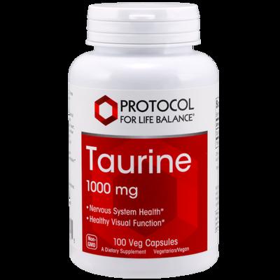 Taurine 1000mg 100cap Protocol for Life Balance