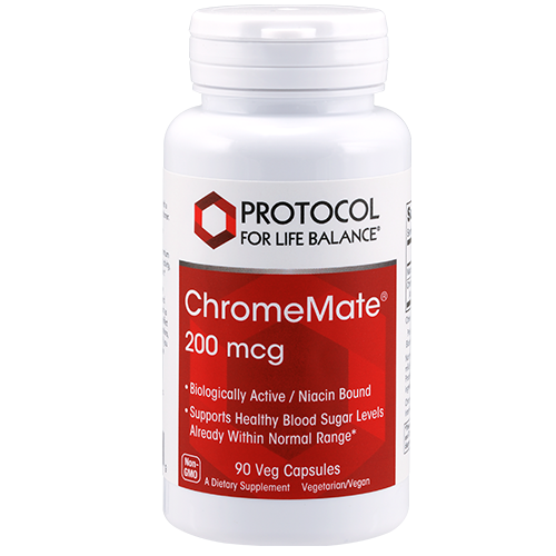 Chromate Chromium 200mcg 90cap Protocol for Life Balance