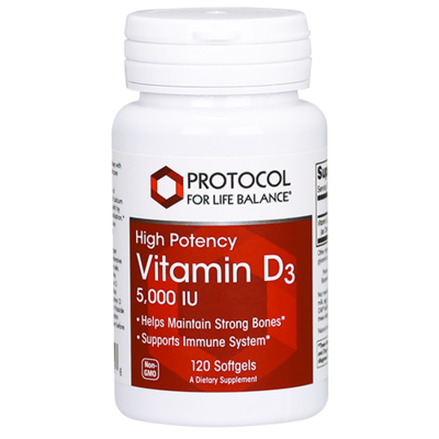 Vitamin D3 5000IU 120 gel Protocol for Life Balance
