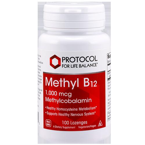 Methyl B12 1000mcg 100 lozenges Protocol for Life Balance