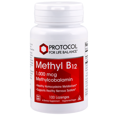 Methyl B12 1000mcg 100 lozenges Protocol for Life Balance