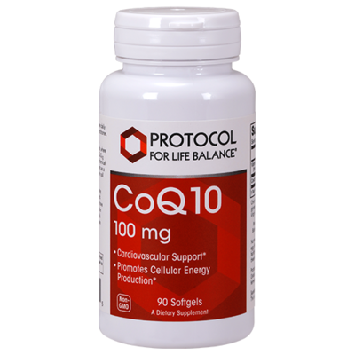 CoQ10 100mg 90 gel Protocol for Life Balance