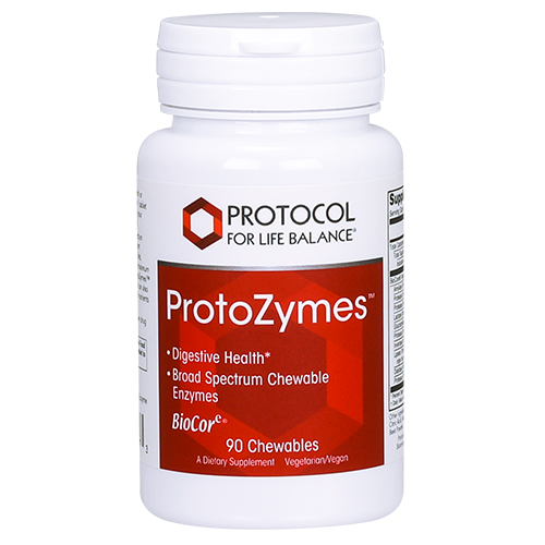 ProtoZymes™ Digestive Enzymes 90 chewable Protocol for Life Balance