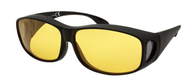 Yellow Fitover Polycarbonate UV400 Glasses