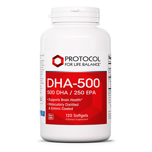 DHA-500 500mg 120 Gel Protocol for Life Balance
