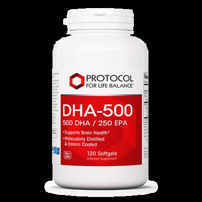 DHA-500 500mg 120 Gel Protocol for Life Balance