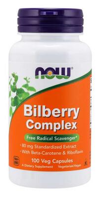 Bilberry Complex 80mg 100 Cap NOW Foods