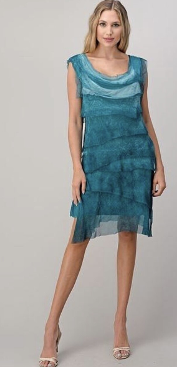 SEDUZIONE - 1195 - TIERED DRESS