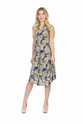 PAPILLON - PD05716 - DRESS HENLEY LEAF