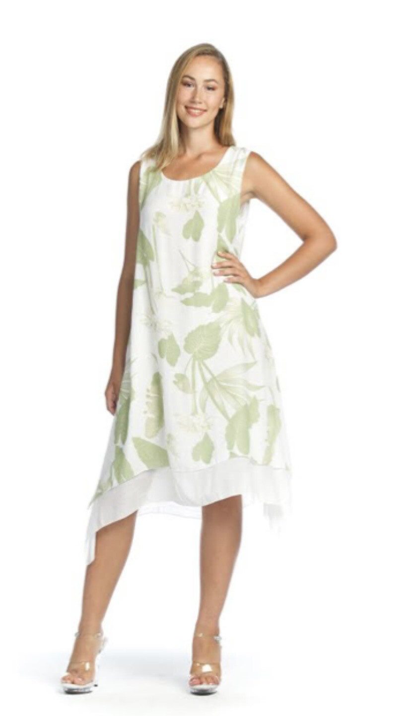 PAPILLON - PD07554 - DRESS CRINKLE LEAF PRINT
