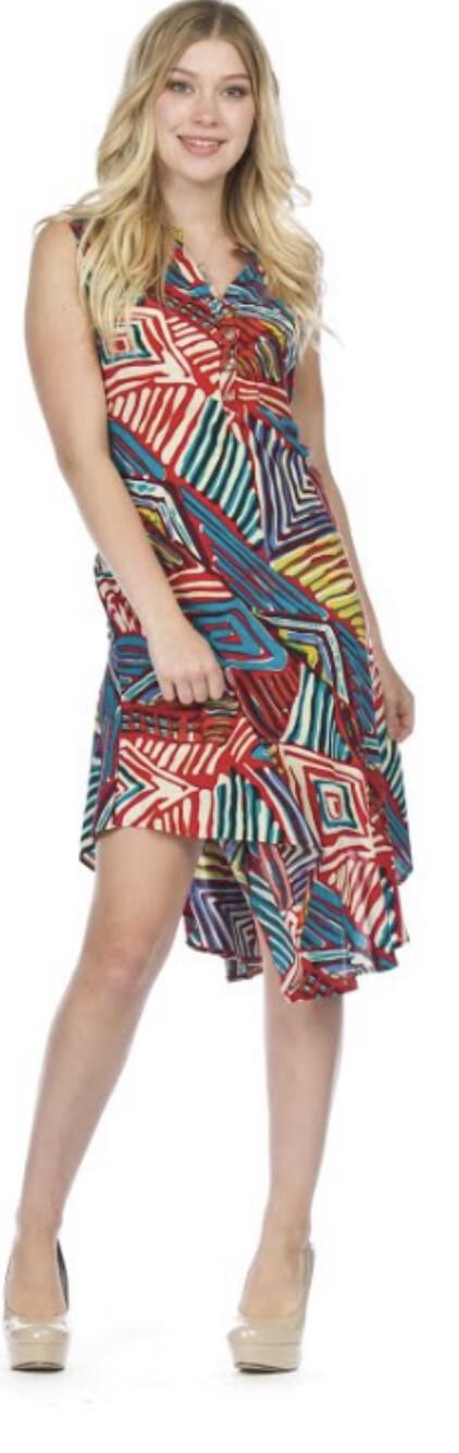 PAPILLON - PD05738 - DRESS HENLEY BRIGHT COLORS