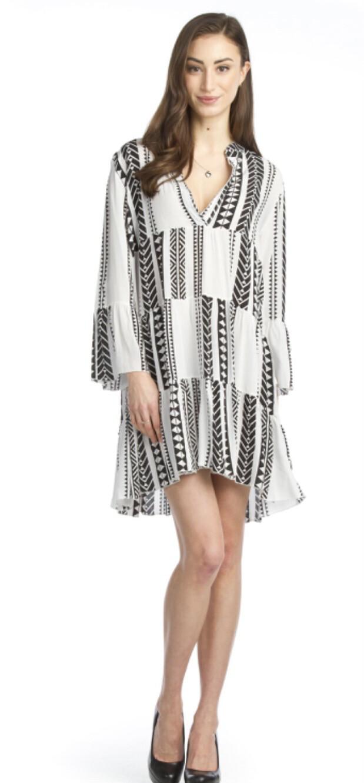 PAPILLON - PD11609 - GEO TIERED DRESS