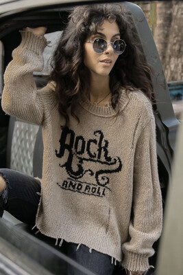 WOODEN SHIPS - ROCK N ROLL DISTRESSED CREW