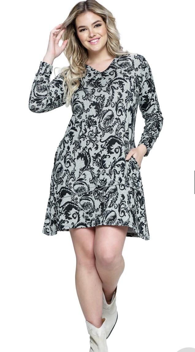 YAK & YETI - 21577 - BLACK DRESS