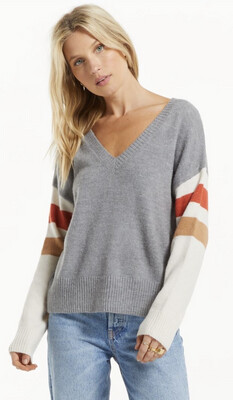 Z SUPPLY - 213236 - COLOR BLOCK SWEATER