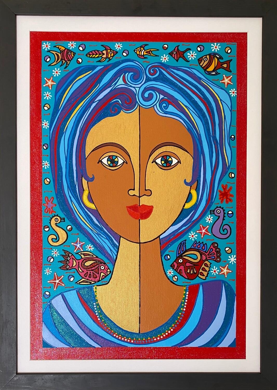 The Goddess of the Ocean by Nancy Reyes art