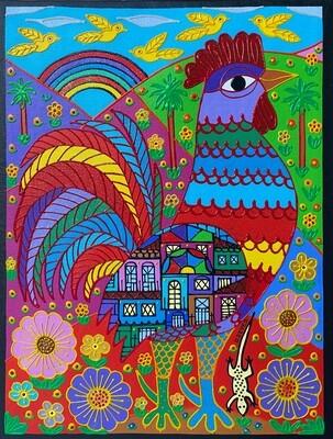 Cuban Rooster by Nancy Reyes art