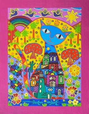 Happy Cat by Nancy Reyes Art