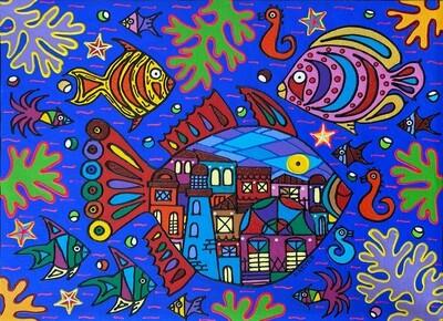 The City Fish by Nancy Reyes Art