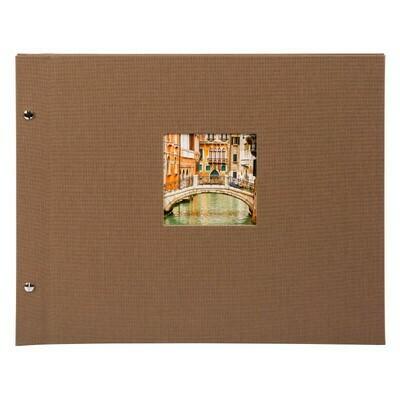 Goldbuch Bella Vista losbladig album 30x25 coffee