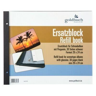 Goldbuch navulling 29x24cm zwart