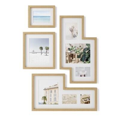 Umbra Mingle Gallery Frames Set naturel