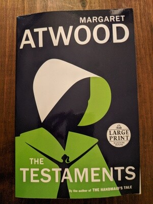 The Testaments (Margaret Atwood) - large print edition book