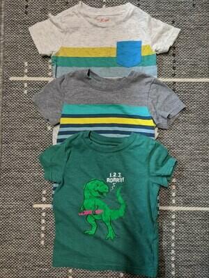 3 T-Shirts Boys Size 18 months