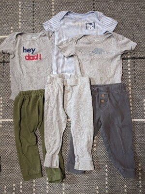 3-Pack Onesie and Pants Set Size Boys 18months
