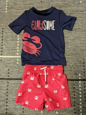 Swimsuit and Rash Guard Size Boys 18 months