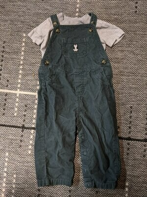T-Shirt and Overalls Size Boys 18 months