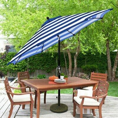 Umbrella - 9ft. Patio Umbrella - Stripe Blue/White