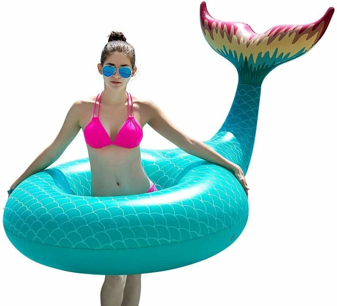 Mermaid Tail Inflatable Float