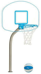 Basketball - Clear Acrylic Deck Mount