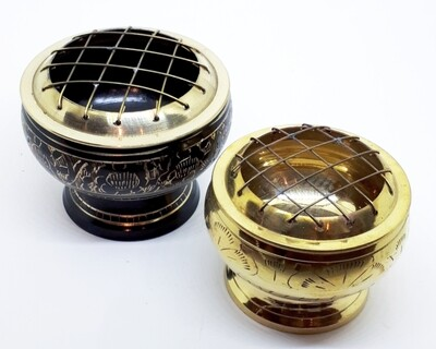 Brass Resin Burner with Grid