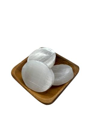 Selenite Thumb Stones