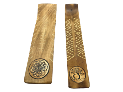 Carved Wooden Incense Holders