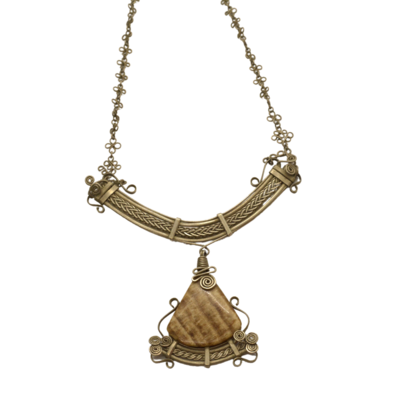 Aragonite Goddess Necklace