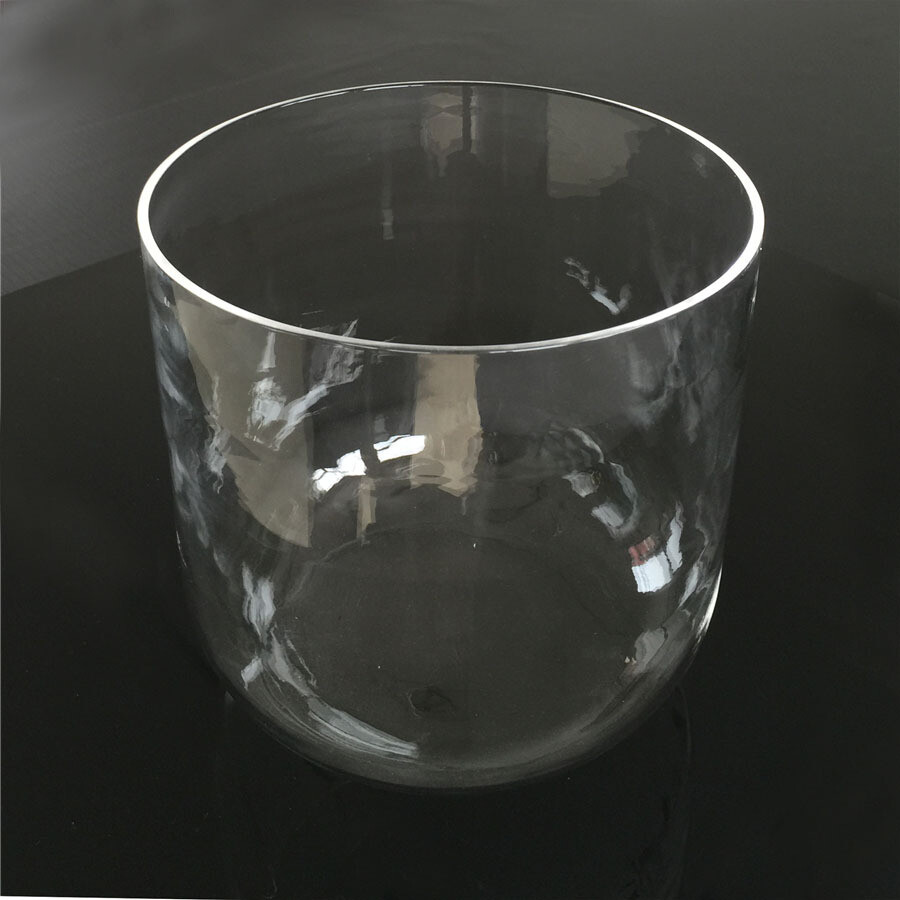"""8"""" Clear Crystal Singing Bowl Perfect Pitch F Note"""