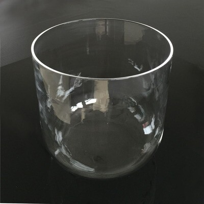 "8"" Clear Crystal Singing Bowl Perfect Pitch F Note"