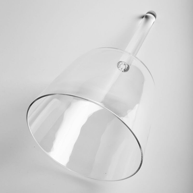 """6"""" Clear Crystal Singing Bowl with Handle Perfect Pitch F Note"""