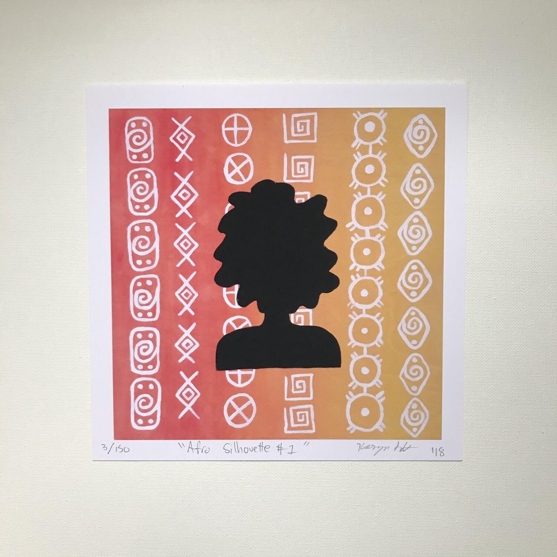 Karmyn Pittman Afro Silhouette #1