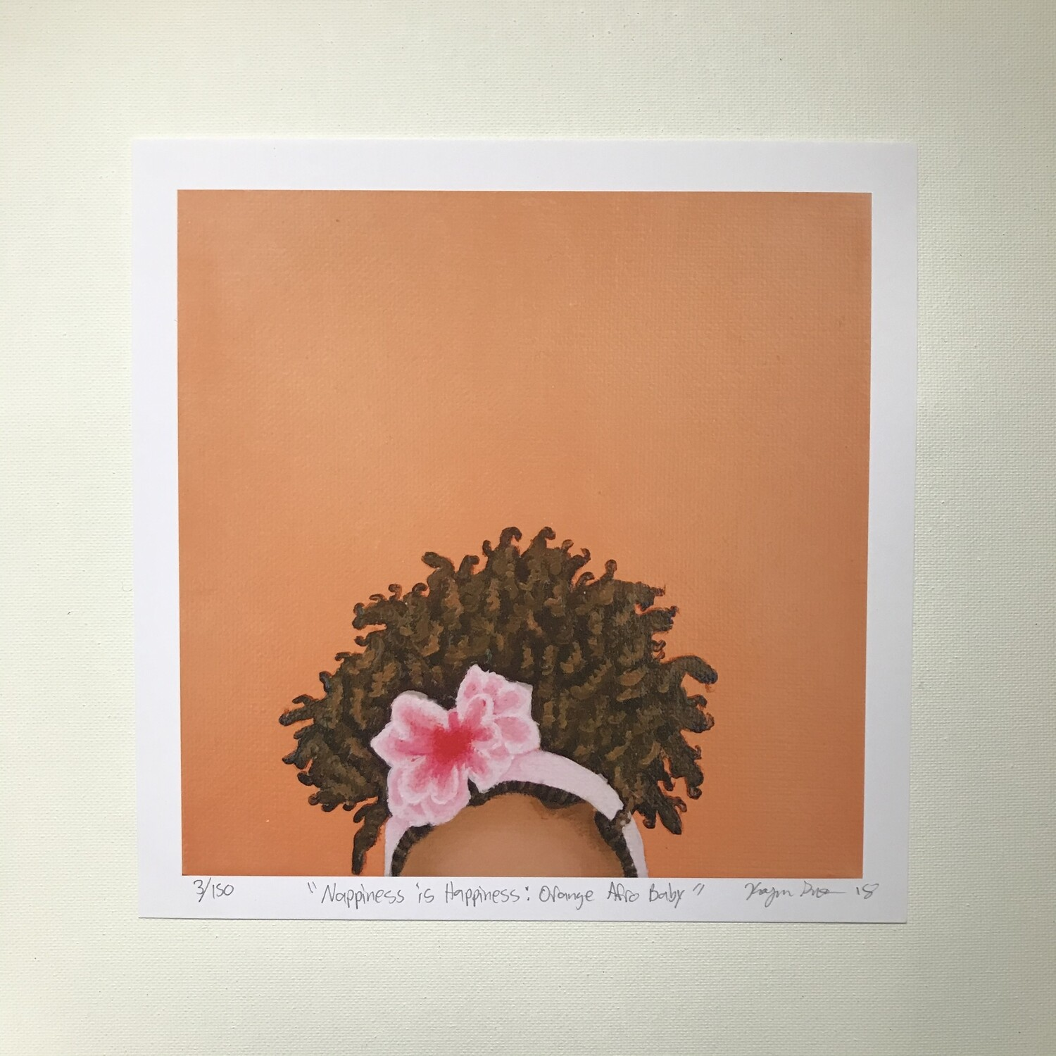 Karmyn Pittman Orange Afro Baby