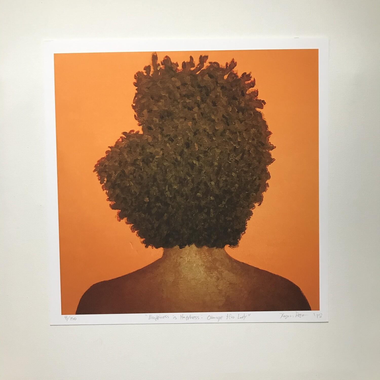 Karmyn Pittman Orange Afro Lady