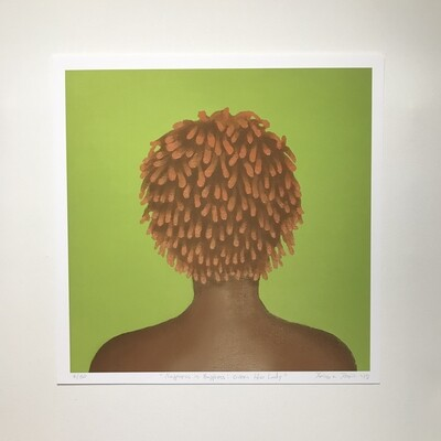 Karmyn Pittman Green Afro Lady