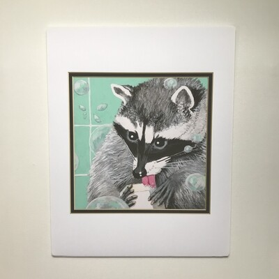 Raccoon Bath Time Animals